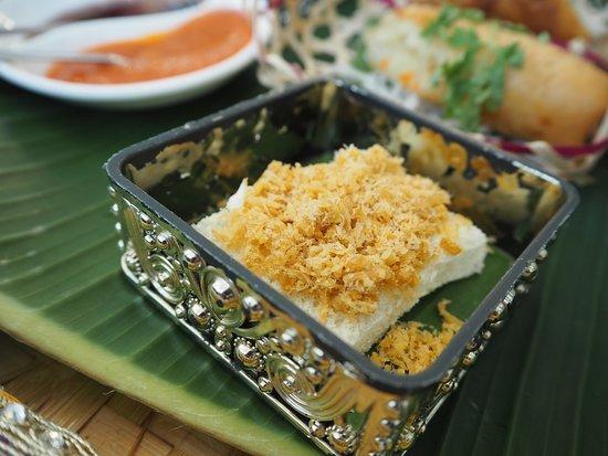 Vegan high tea - Savoury platter (White bread with hae bi hiam)
