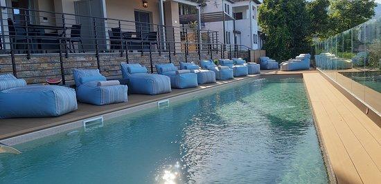Heated shared swimming pool