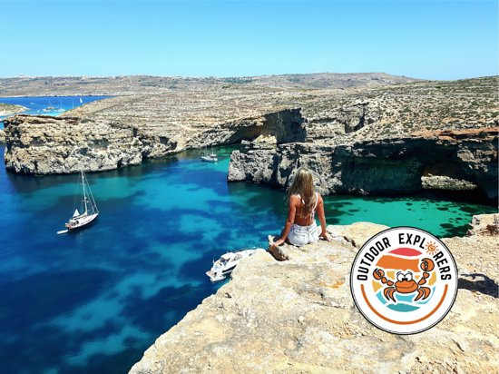 Marsalforn, Malta: Blue lagoon comino malta, one of the viewpoint we take you on a hike after a boat trip to comino, we also do it via Gozo segway tour and also a possibility to do snorkeling after wards