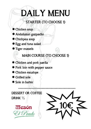 Our menu today Monday June 22.