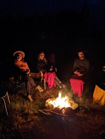 Hygge ved bålet