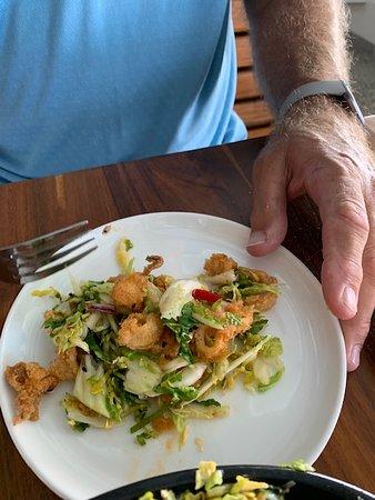 Kung Pao Calamari - tasty dressing to compliment the calamari