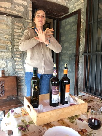 This is Susannah, owner of Setriolo, discussing her wonderful wines. She also produces a delicious olive oil.