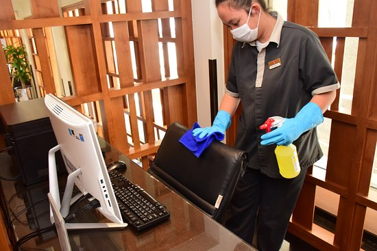 Hygiene in computer for public use