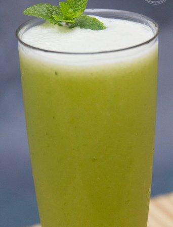 Suco Abacaxi com hortelã