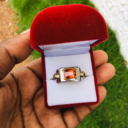 Colombo, Sri Lanka: Hessonite Garnet Gemstone and Cat's Eye Gemstone with 22k gold &925 Silver Ring (ගොමේද & වෛරෝඩි)  Are you looking for trustworthy online Jewellery store........  The best and one and only place is sampath jewelry  Highly Quality Finishing..... Exact  karat value......  As you required, we are here to make any kind of Jewellery with 💯% assurance. 💎 💍💍💎  Trust beyond money 💵      0756 655 355           WhatsApp