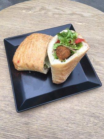 Great falafel in Sympatia Bar