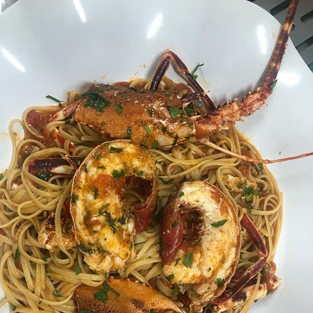 Overwhelming Lobster pasta