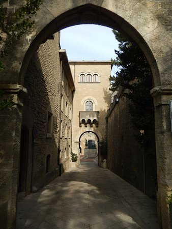 San Marino is replete with beautiful walkways and arches.