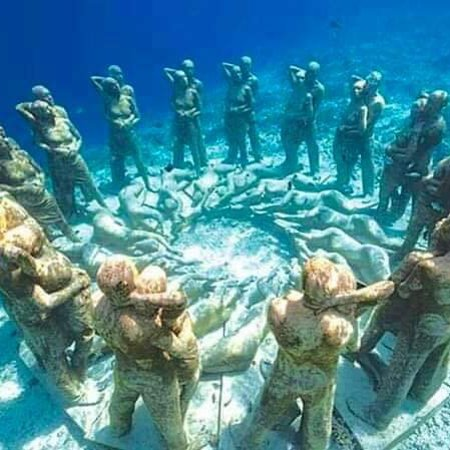 Under water Museum|🇱🇰 Marking a historic day in the annals of our nation, Sri Lanka's first ever underwater museum was declared open by Commander of the Sri Lanka Navy, Vice Admiral Piyal De Silva off the shores of Galle, a popular tourist destination. The museum has been constructed 50 feet underwater within the Galle harbour based on a concept.The museum had been constructed under the direct supervision of the Commander of the Sri Lanka Navy.