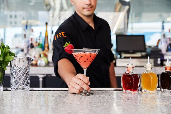 Craft cocktails at FIRE Lounge