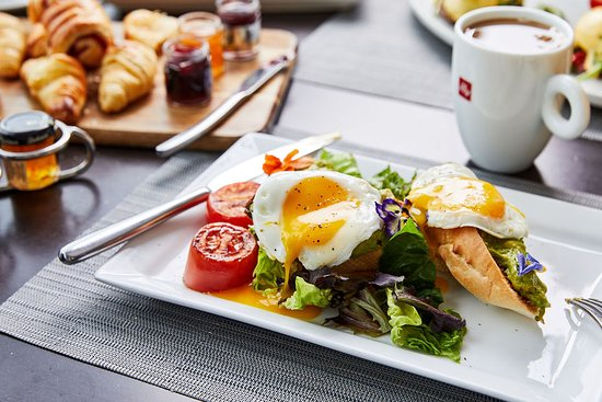 Contemporary American breakfast at FIRE