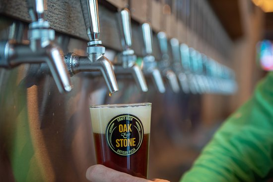 Our self pour beer wall has more than 50 flavors of local craft beer. You pour it by the ounce and select your favorite brew.