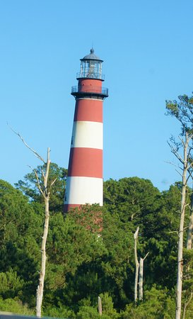 The iconic Assateague Lighthouse.