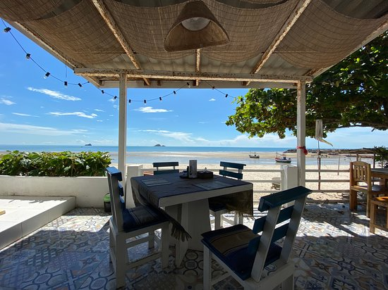 Nearby beachfront cafe