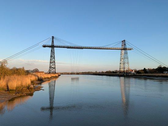 Rochefort, France : Le Pont Transbordeur et sa nacelle en février 2020 ©JC/CARO