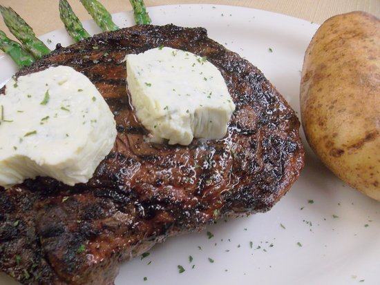 Tall Timbers, MD: Ribeye with Bleu Cheese Butter