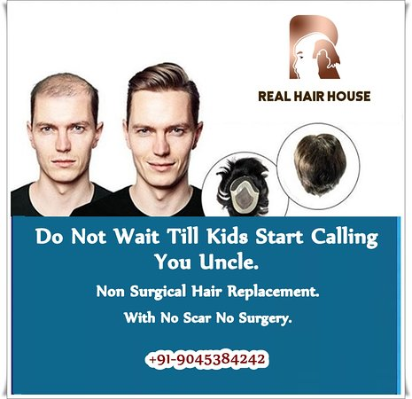 Realhairhouse:Do Not Wait Till Kids Start Calling You Uncle. Non Surgical Hair Replacement. With No Scar No Surgery. Sardarji Real Hair House Contact Us: +91-9045384242 , + 91-7906348470 Website: 🌐 http://realhairhouse.com/hair-patch-in-delhi/ #hairloss #hairreplacement #haircare #hair #hairlosstreatment #baldness #hairpatches #balding #menshair #hairrestoration #wig #stylish