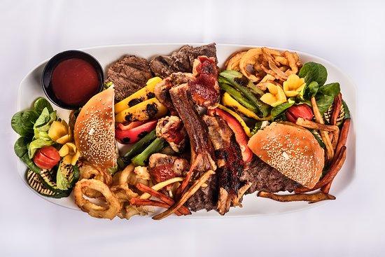 """""""American Steak House"""" platter"""