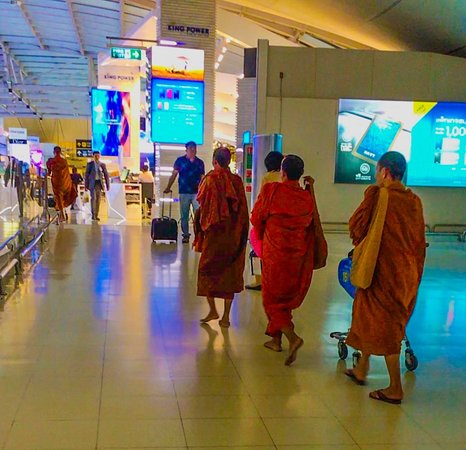 Buddhist Monks at Bangkok international airport