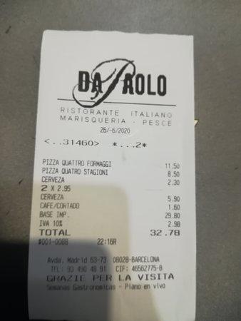 TICKET: EL PUNTO NEGATIVO LA CERVEZA SIN GLUTEN DE 33 cl A 2,95€ !!