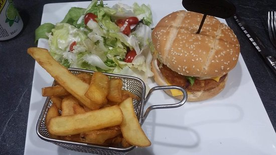 Romenay, France: burger vegetarien