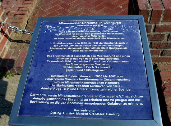 Minensucher - Denkmal