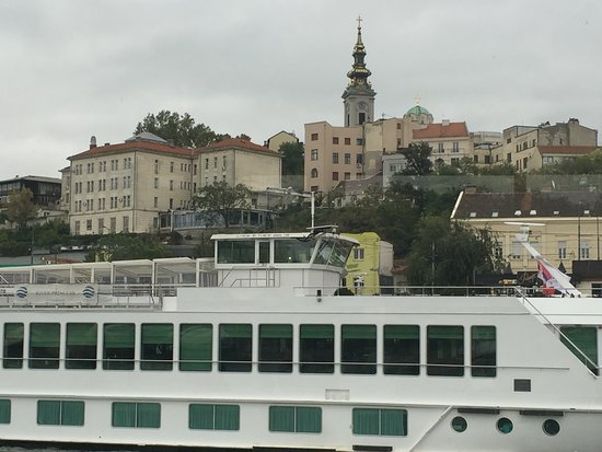 View of Belgrade from the boat.