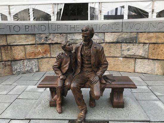 American Civil War Museum- Historic Tredegar: Lincoln statue outside at upper level
