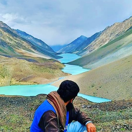 This amazing view of  the largest mountain lake( Khukush) of Pakistan welcomed us ,after 4 days of strenous trek from Mahodand,Swat valley.  Note: The lake is located at an easy hike of 2 to 3 hours from langar meadows near Shindoor.