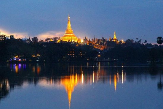 Shwedagon Evening And Night Life At...