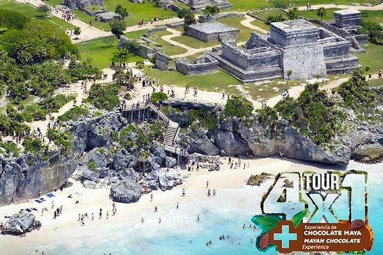 Tour 4x1 por Tulum e Coba com Cenote e...