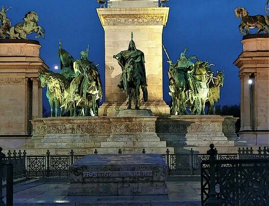 A central statue of the group is Aarpurd who was the grand father of the first King Istven in the Kingdom of Hungary.
