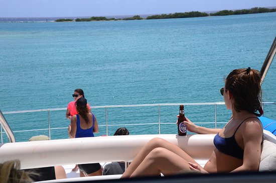"""Willemstad, Curazao: Chilling on the """"top floor"""" enjoying the view!"""