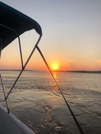 Another Sneads Ferry sunset from one of our skiff Rental boats! So beautiful!
