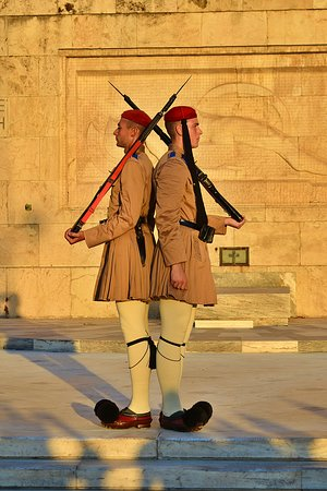 change of the guard. Athens, Greece