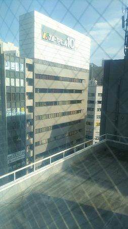 807号室からの眺望。