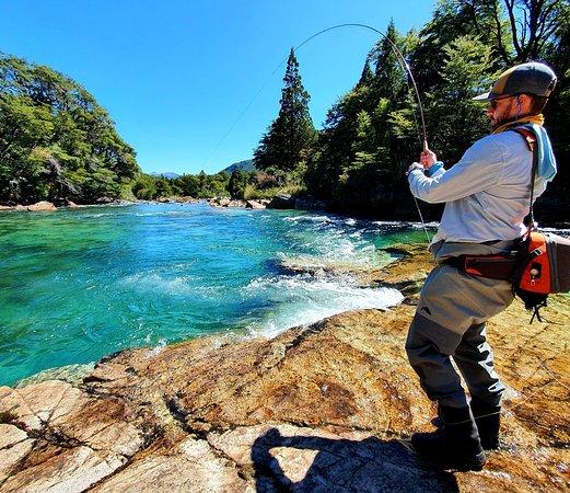 Nahuel Huapi National Park, Argentina: Fish On!