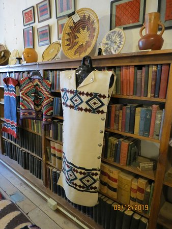Ganado, AZ: Historic Books & Navajo clothing in the 'Rug Room'