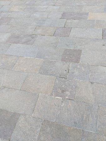 Granite flagstone courtyard outside the Church of Saint Sernin.