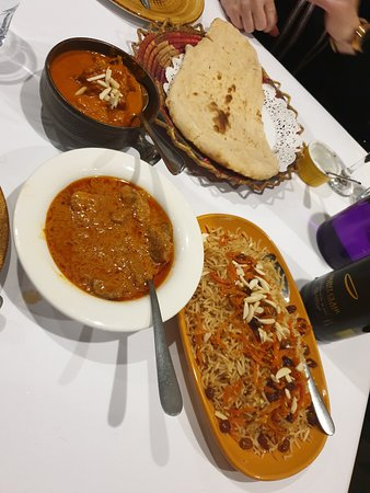 Our main dishes came with Naan bread and Rice