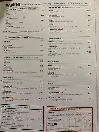 Panino Giusto Aereoporto Linate - Il MENU - I PANINI (ottimi prodotti e selezione di qualità)
