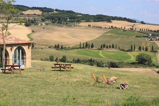 Our breathtaking view on Val d'Orcia