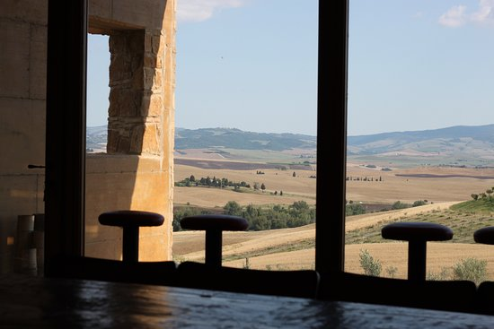 During hot summer days it's so nice to stay inside our wine cellar and enjoy the view with fresh beer or wine!