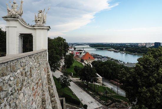 Old Town Tour in Bratislava by Prešporáčik Oldtimer: Danube at Bratislava