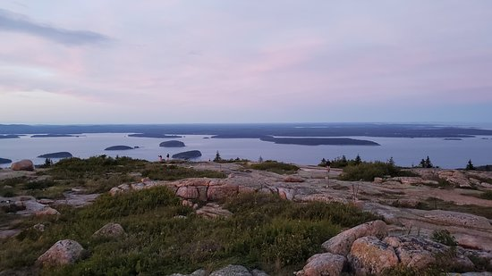 Looking away from the sunset towards the porcupine islands.