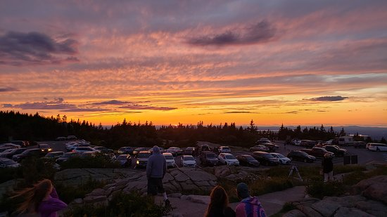 Lovel views from cadillac mountain just as the sun was setting.
