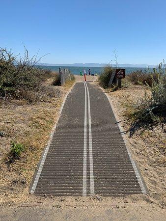 Short stroll along the beach