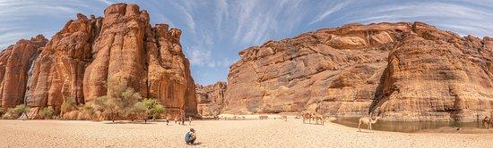 Guelta de Archei accediendo por el Sur