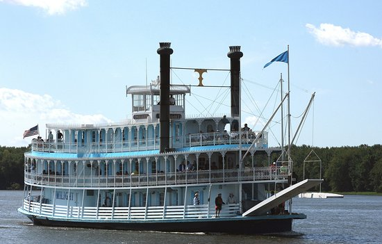 Le Claire, IA: Riverboat Twilight
